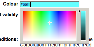 HTML5 color input field with html5Forms and jscolor.