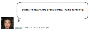 Screen shot of comment on my blog using the balloon border-image in firefox.