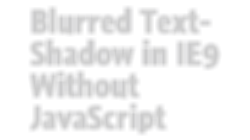 IE screenshot of text with Chroma and Blur filters applied