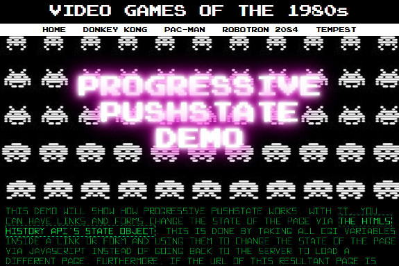 screenshot of desktop version of video game demo