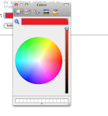 HTML5 Color form field, Opera (large)