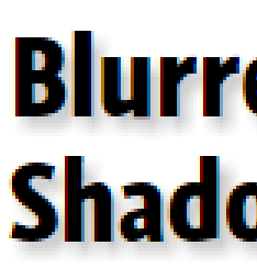 IE screenshot of simultaed text-shadow