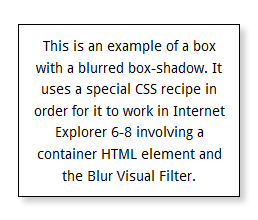 How to Simulate CSS3 box-shadow in IE6-8 Without JavaScript