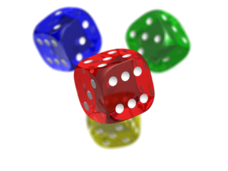 PNG rendition of dice with alpha channel
